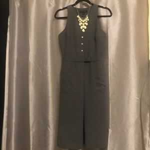 Gray Banana Republic Button Up Work Dress